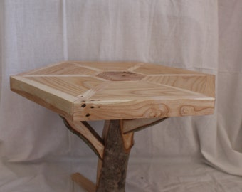 Solid Ash Wood Side Table