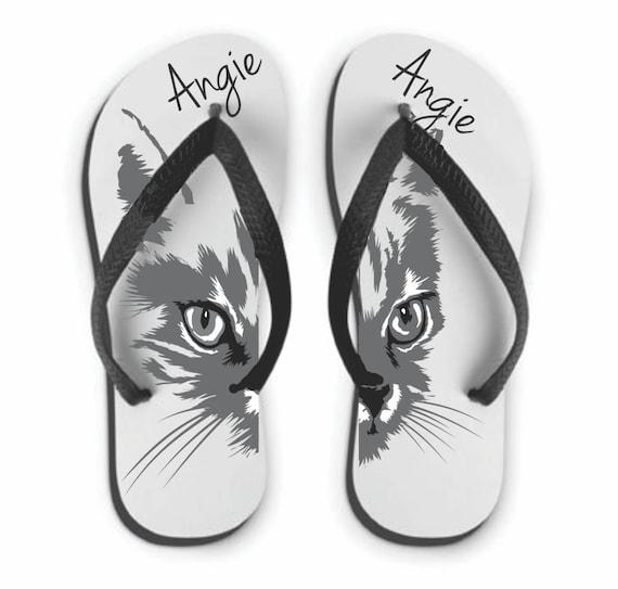 cat lady sandals flip flops