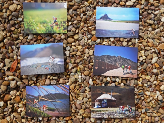 Postcards from around the world set