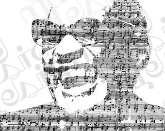 Ray Charles Music Print
