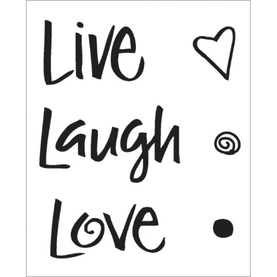 Live Laugh Love Clear Mini Stamp By MemoryMakinShoppe On Etsy