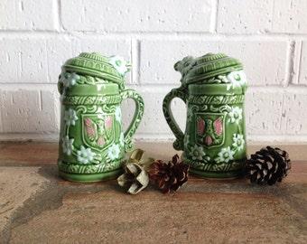 Green Salt and Pepper Shaker Set