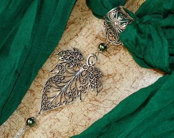Maple leaf scarf jewellery