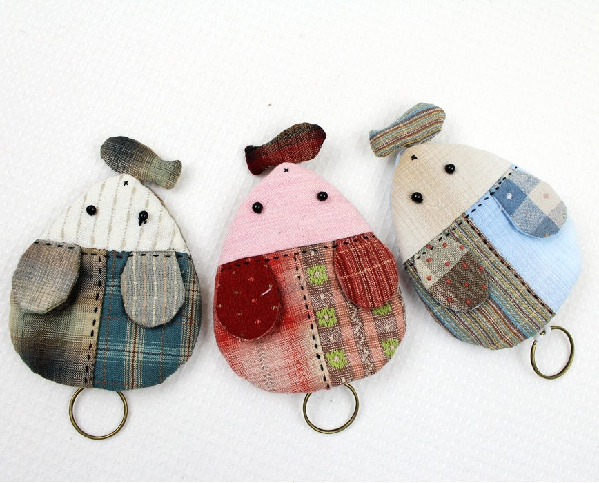 Sew A Toy Car Holder : Needle craft sewing kit car key case mouse fish pattern