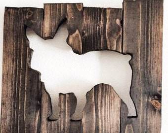 Wooden Dog Sign - Frenchie