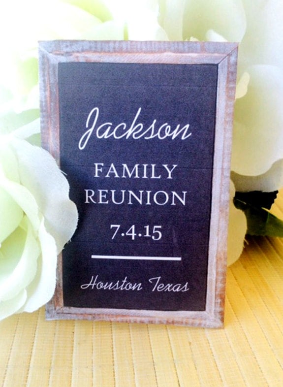 Family reunion favors gifts party