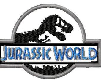 Machine Embroidery Design -Jurassic World Applique - Instant Download-3 Sizes