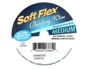 Soft Flex Beading Wire 30 Feet - choose size