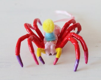 Hand painted party spider hanging decoration