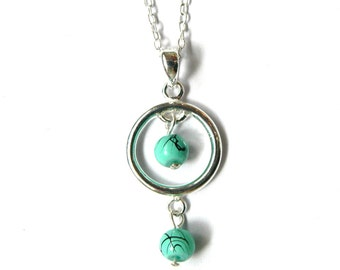 Turquoise Loop Necklace