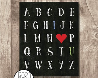 Printable I Love You Alphabet