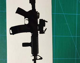 AR-15 Vinyl Vehicle Decal Free Shipping!