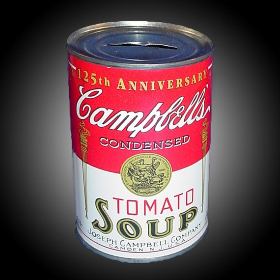 125th anniversary campbell 39 s tomato soup can vintage tin. Black Bedroom Furniture Sets. Home Design Ideas