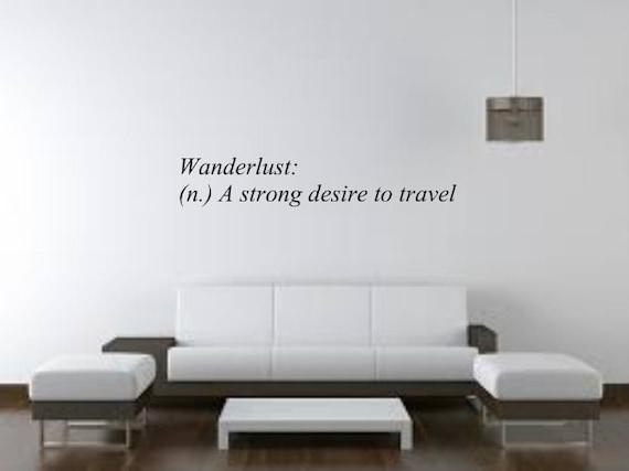 Wanderlust Definition Vinyl Decal Wood Art Sticker Wall
