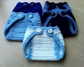 0-3 Months Crochet Boy And Girl Diaper Covers