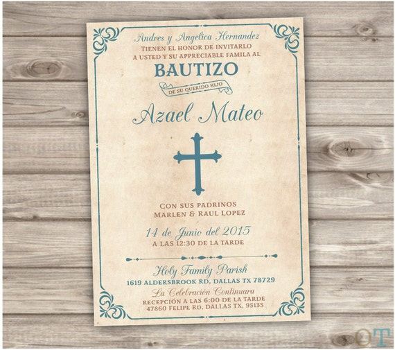 Spanish Printable Baptism Invitations Espanol Catholic Church