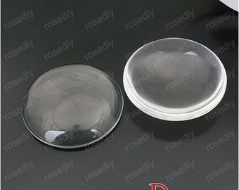 5pcs 50mm Clear Glass Transparent Clear Oblate Cabochon Cameo Cover Cabs M23537