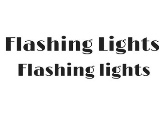 Flashing Lights Print.