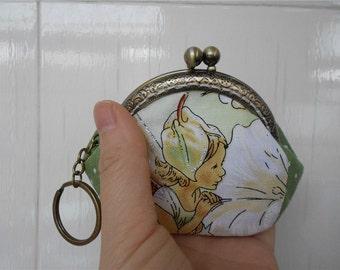 Green Fairy Coin Purse Frame Women Bag Free Shipping