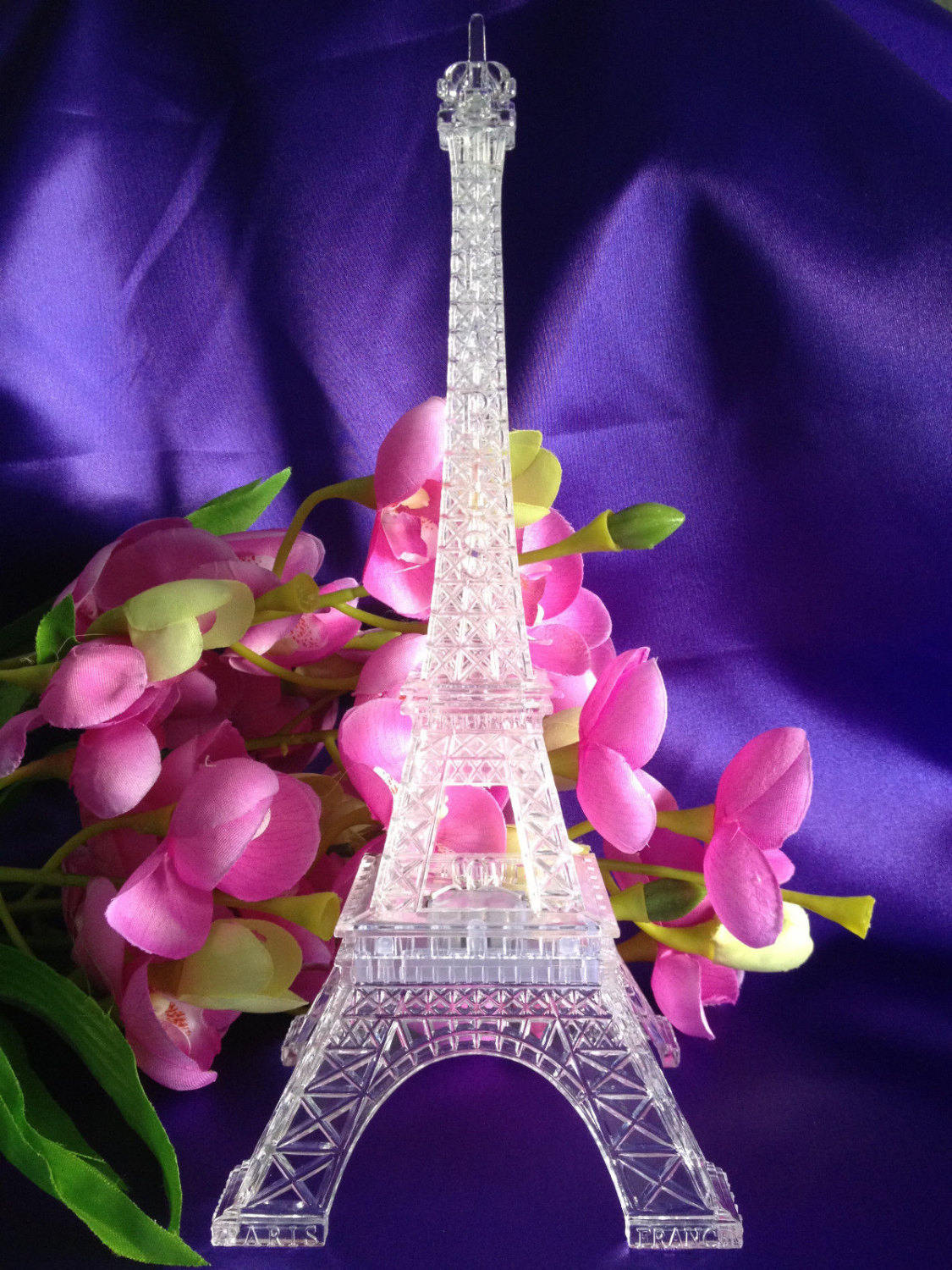 Led Eiffel Tower Light Up Statue Mulit Color Changing Wedding