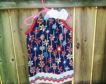 Patriotic Pinwheel Isabelle Dress