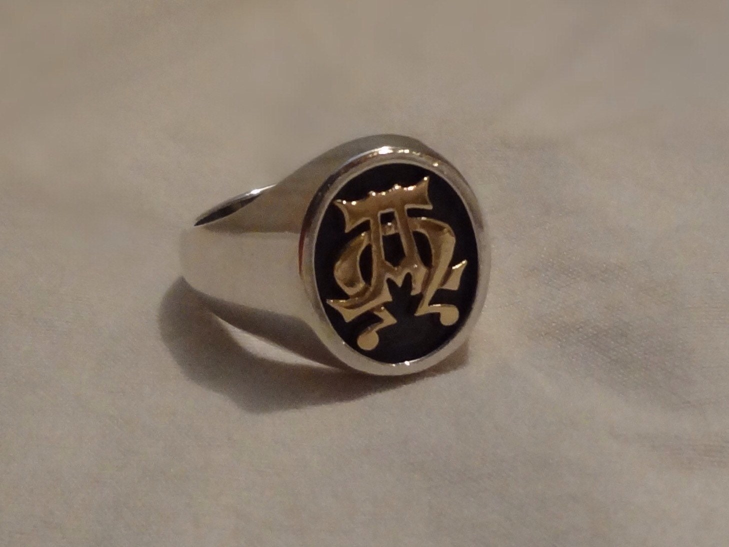 James Avery Alpha And Omega Mens Ring Size 10