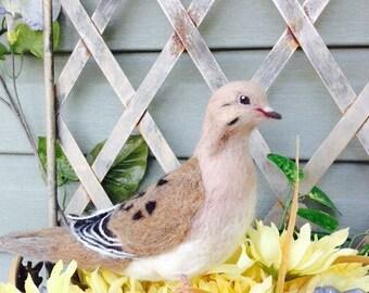 Needle Felted Mourning Dove