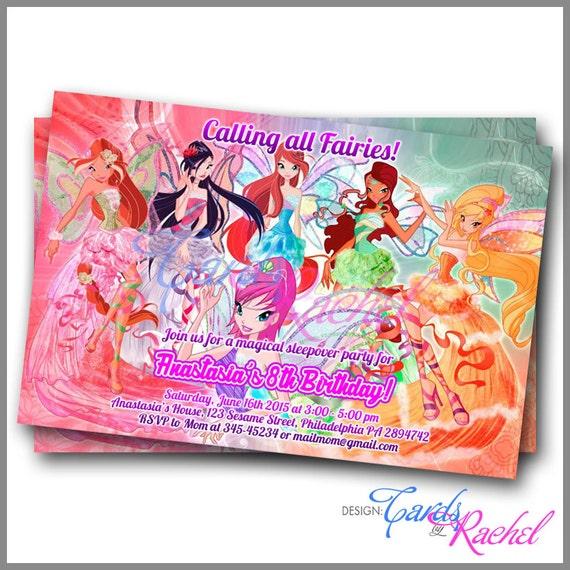 Carte D'invitation Anniversaire Winx Club   nanaryuliaortega site