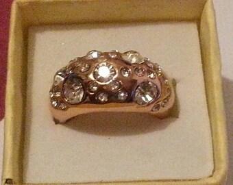 Gorgeous 14kt GF Princess Cut Zirconia Ring 7