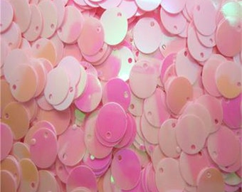 100 - 10mm sequins, spangles - pink ab