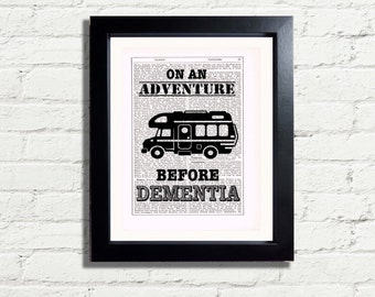 Motorhome Rv Camper Fun Quote INSTANT DIGITAL DOWNLOAD A4 Printable  Dictionary Style Wall Art  Print Decor Ideal Camper Motorhome Fan Gift