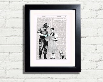 Banksy Art Dorothy & Toto Oz Cop  Graffiti Wall Art INSTANT DIGITAL DOWNLOAD A4 Printable Pdf Jpeg  Picture Poster Wall Hanging Gift Idea
