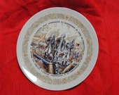 Henri D'Arceaul & Fils (siblings) Decorative Plate Layayette, Rochambeau and Washington au siege de YORKTON  Decorative 1975