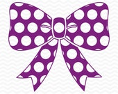Polka dot Bow design, SVG, DXF,EPS, cutting files for use with Silhouette Studio & Cricut Design Space