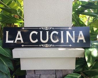 La Cucina Kitchen Wooden Sign