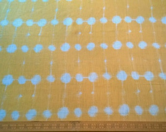 Marimekko Finland 'PISARA' 100% Linen Fabric Sunshine Yellow Color Super Fine Quality Linen! 3 1/2 Yards!