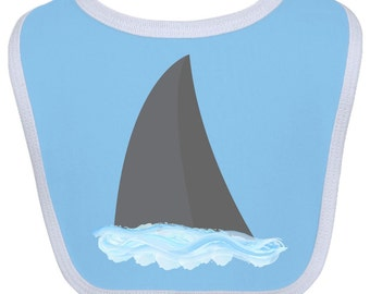 Shark Fin Baby Bib by Inktastic