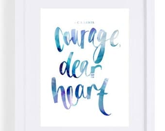 Have courage print