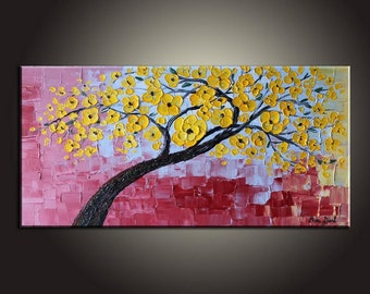 Original Painting, Canvas Painting, Tree Painting, Abstract Art, Wall Art, Oil Painting, Landscape Painting, Large Wall Art, Original Art