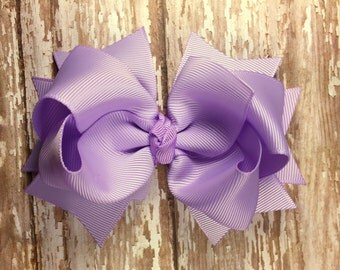 Lavender hair bow