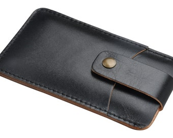 Handmade genuine leather sleeve  case pouch for Samsung Galaxy S3456 note 2 3 4 edge