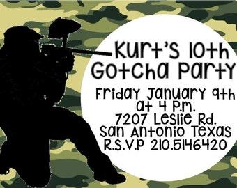 Gotcha Party Digital Invitation