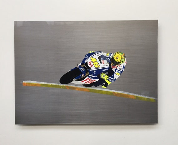 Valentino rossi yamaha motogp painting on steel for Chambre yamaha