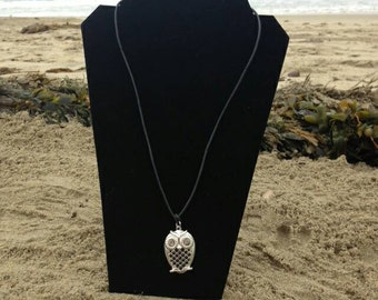 The Wise Ol' Owl, Long Necklace, Owl Charm Necklace