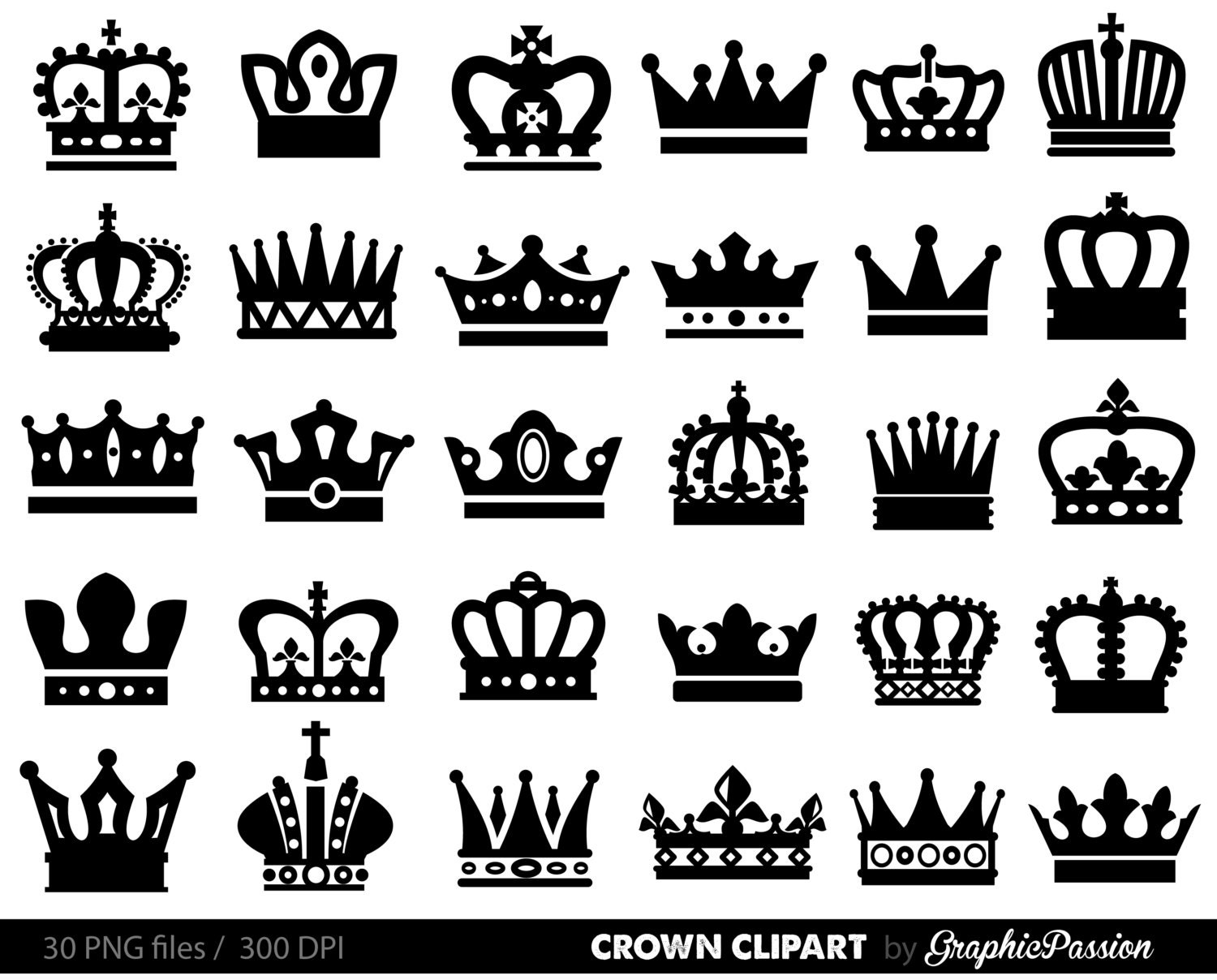 Queen Crown Painting Silver Queen Cr...