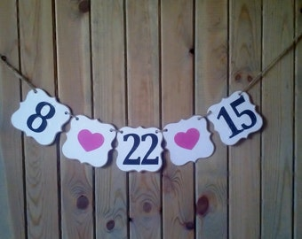 Save The Date Banner - photo prop - save the date sign - wedding - bridal shower