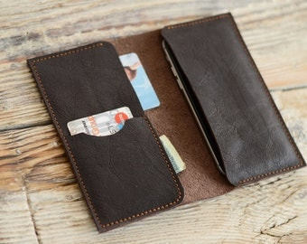 Leather wallet iPhone 6 case Leather iPhone case Men wallet Card holder Samsung phone case