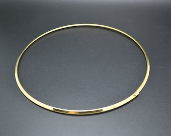 10pc Gold Plating Color Round Metal Circle Choker Necklace Hoop Jewelry findings used for Pendant Necklace Silver color available