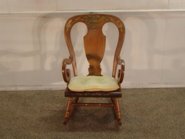 Tell City Solid Maple Rocking Chair by DeLongsFurniture on Etsy