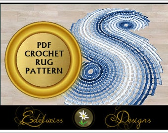 Elegent Rug Crochet Pattern -  Quick and Easy Pattern -
